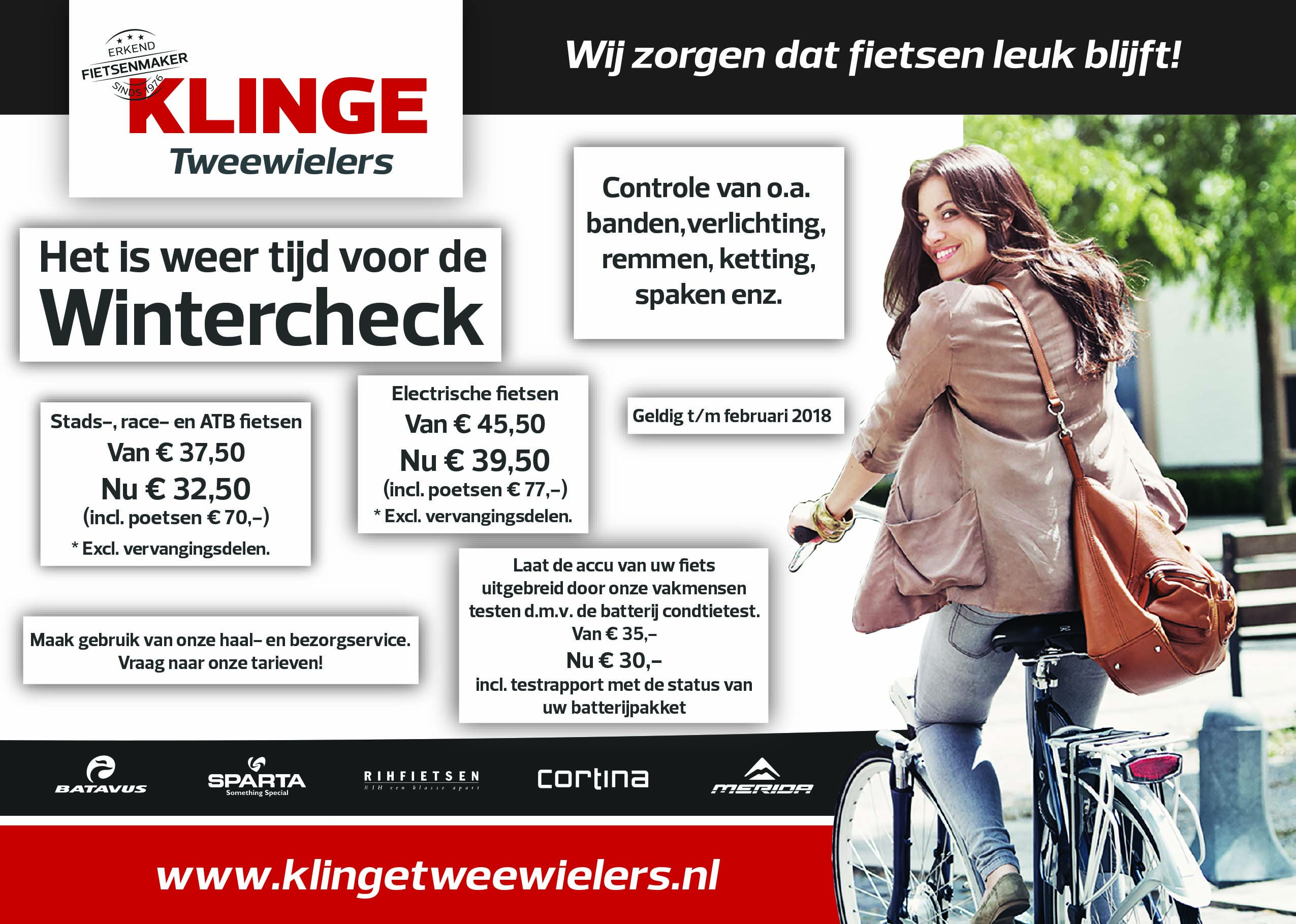 Klinge Tweewielers Nieuwleusen wintercheck 2017